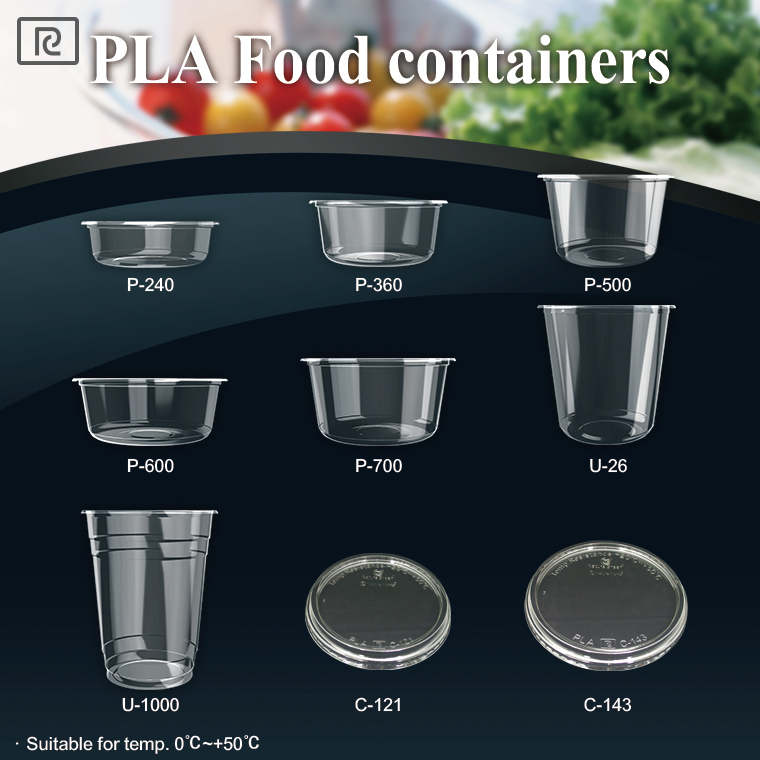 K-P500-P PLA 16oz 500ml biodegradable - compostable food container