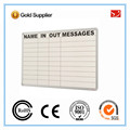 Office Aluminum frame magnetic White board with grid lines