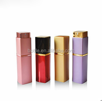 20ml square twist up refillable perfume spray bottle aluminium factory sale