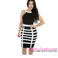 Black White Straight Caged Tight Sexy Mini Dress Girls Without Dress Sex Picture