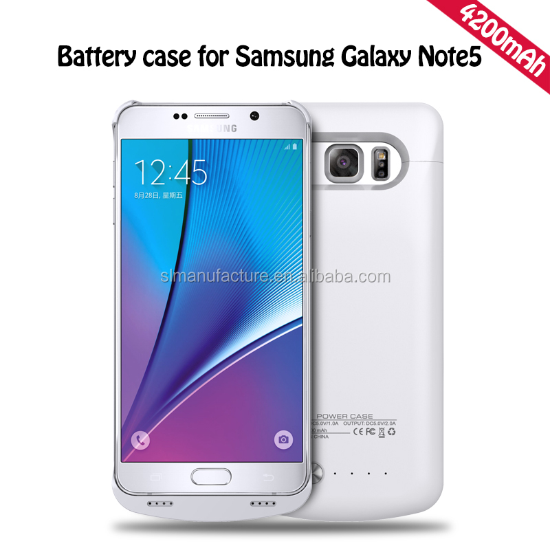 Lithium ion polymer battery 4200mah battery case for Samsung note 5