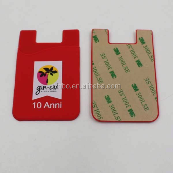 3m Sticker Silicone Mobile Phone Card Holder