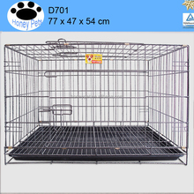 Folding Wire Dog Crate Two Door Collapsible dog cages for cars uk