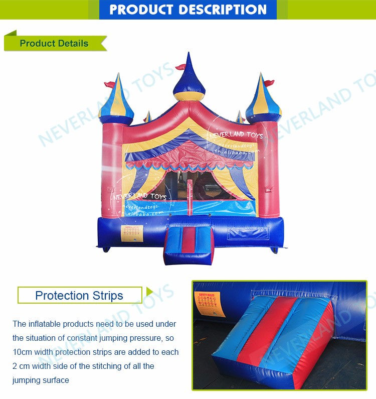 New design inflatable bouncy castle midway castle used commercial inflatable bouncers for sale