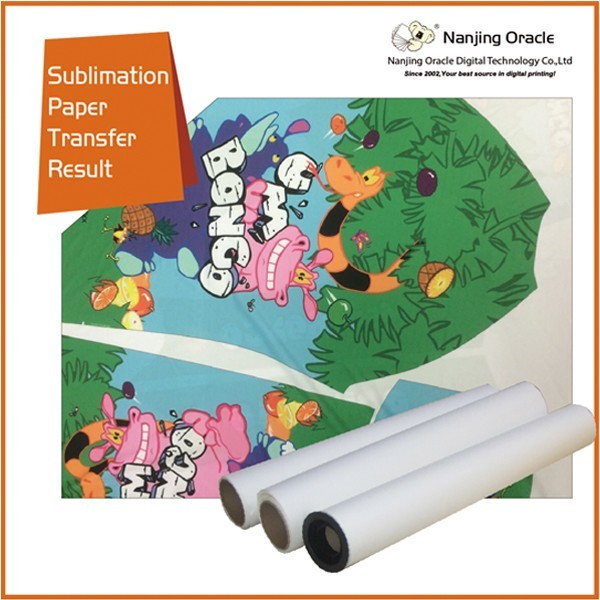 dye heat transfer sublimation paper ,60g /75g/80g/90g/100g sublimation roll paper