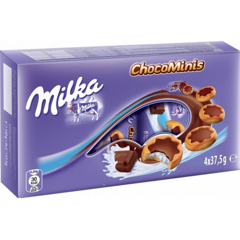 Milka Chocominis Biscuits 150g