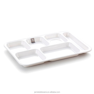 divided melamine plate,rectangular melamine plates,4 compartment/five-compartment/six compartment plate