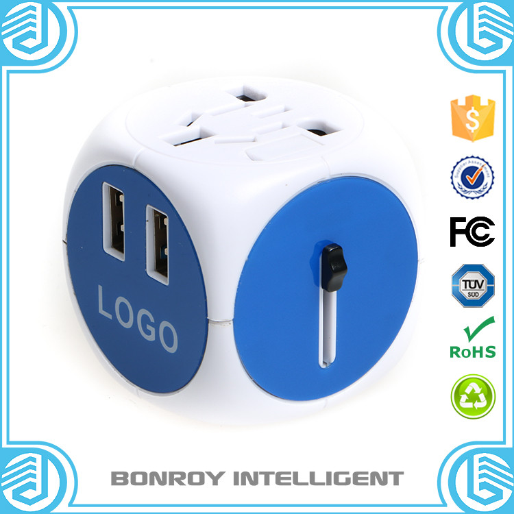 2017 creative wedding giveaway gift / desktop travel plug socket / multiple power socket with rohs usb charger