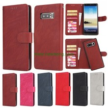 2 in 1 Retro Detachable Multifunction Card Slot wallet flip leather case for Samsung Galaxy Note 8