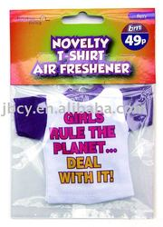 2015 novelty retail bulk mini cotton T shirt air freshener with various club logo printed