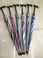 Honesen oem and odm fiberglass shaft and rib with rubber handle auto red golf umbrella