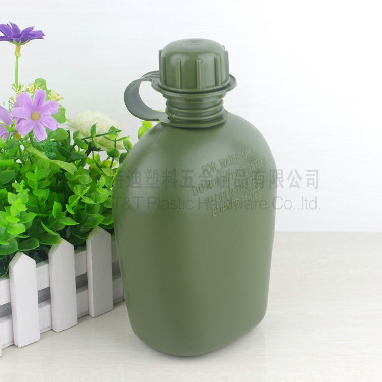 1 liter Plastic military water bottle, men's custom water bottles