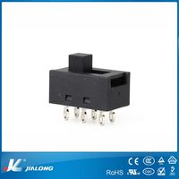 T125 mini 6pin smd 3position 10A250VAC 16A125VAC hair dryer speaker amplifier power smd slide switches