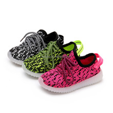 2017 Yeezy shoes kids lighting led shoes