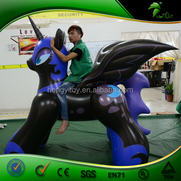 Strong Material 1.0MM PVC Inflatable Horse, 2M Purple Inflatable Little Horse