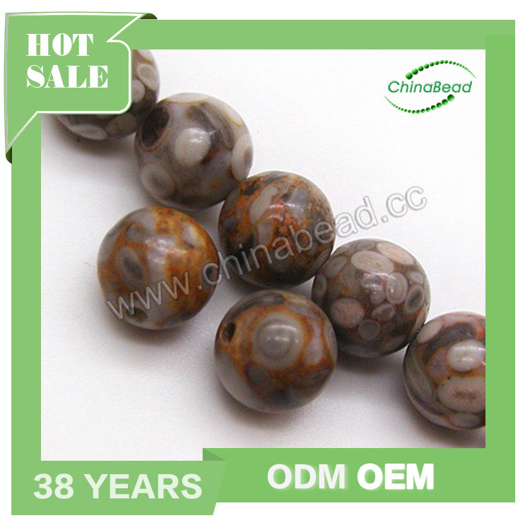 Smooth round Maifanite beads 10mm natural precious stone