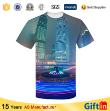Newest style all over sublimation printed mens long tee