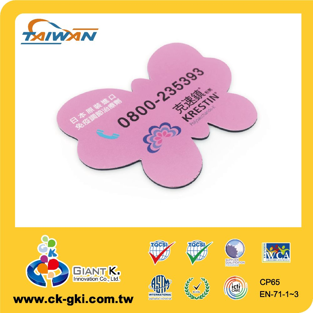 flower shaped magnetic sticker paper material fridge magnets