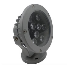 Outdoor 9W LED RGB color changing round flood light IP65