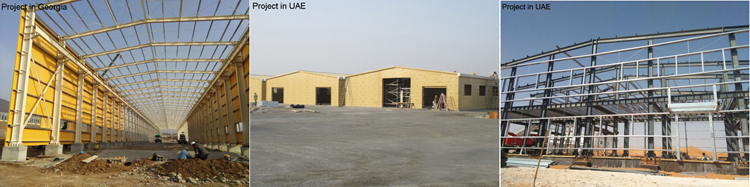 Large span long service life auto workshop design outdoor shed hangar steel structure for Tanzania