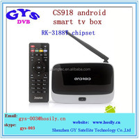 full hd 1080p android tv box cs 918 global iptv set top box CS918 quad core android iptv box