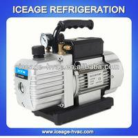 Double stage rotary vane hand held vacuum pump