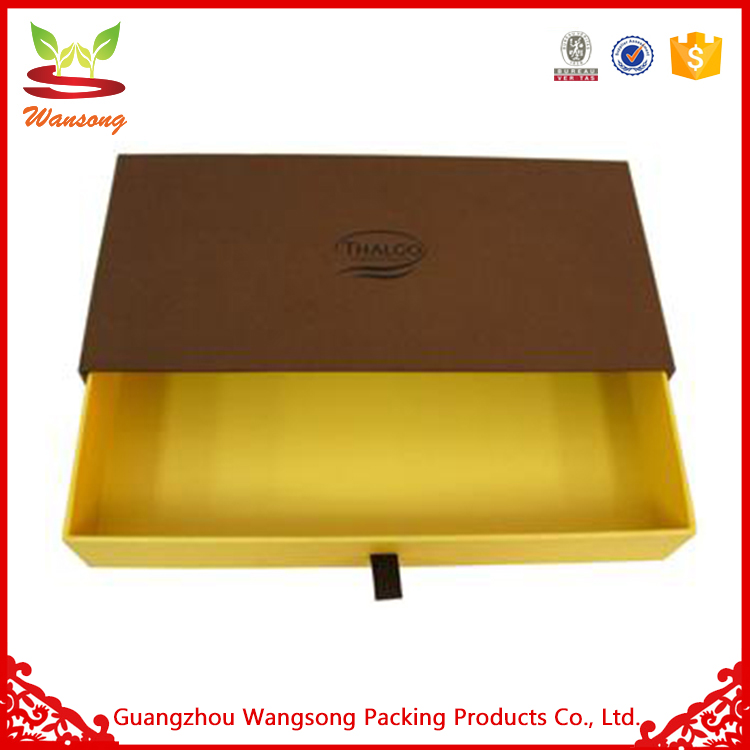 Custom Printed Biodegradable Drawer Style Paper Packing Fast Food Box