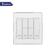 New and Hot sales Four Gang One/Two Way Electrical Wall Switch with LED Indicator Light