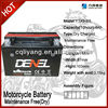 Primary&Dry vrla motorcycle battery with high quality 12 volts