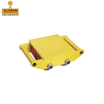 ALLMAN 6ton to 18ton heavy machine moving equipment roller skates cargo loading trolley