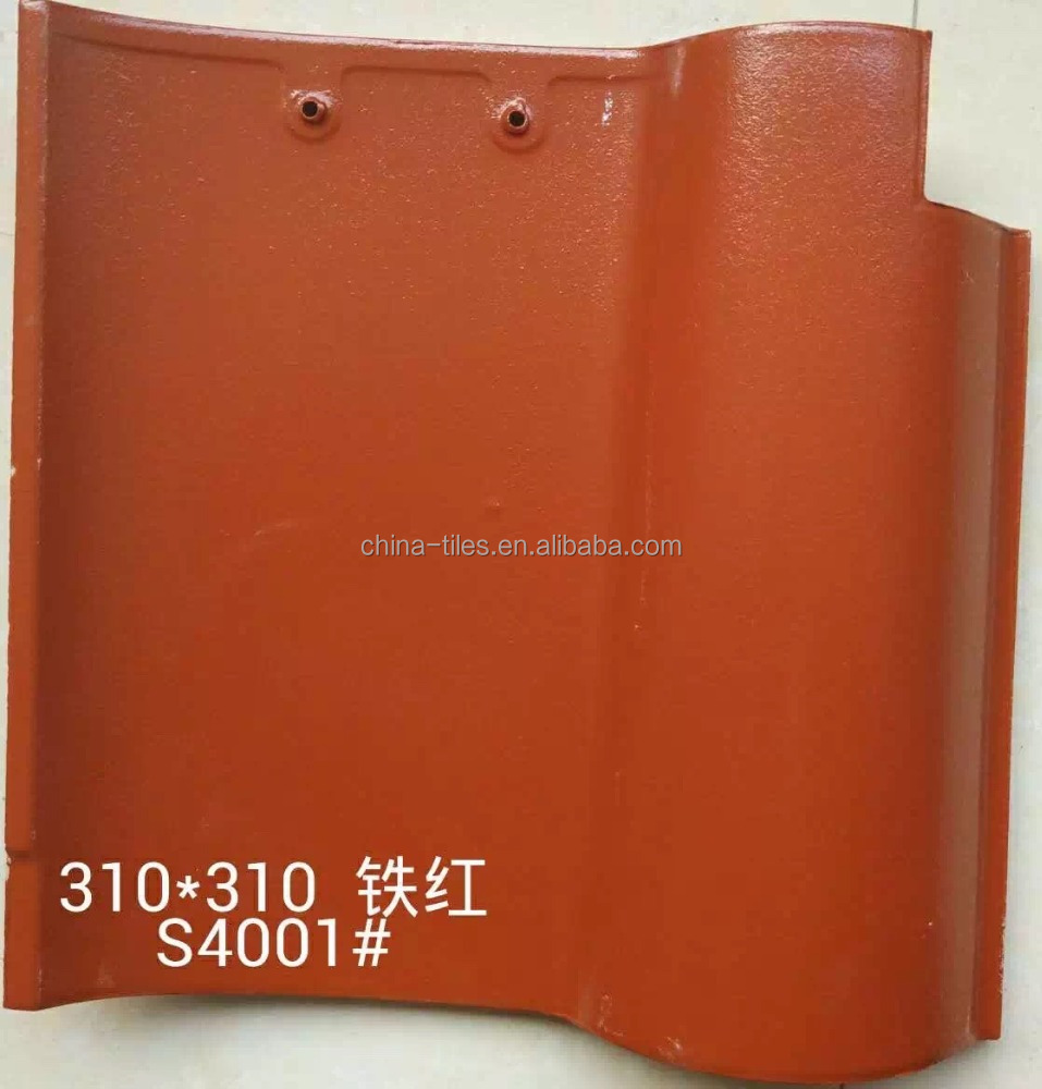 New building construction materials spanish red clay roof tiles