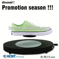 new invention ! magnetic levitating led display stand for shoe woman,ru shoes