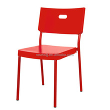 Cheap simple outdoor indoor UV protecition restaurant school stacking plastic chair