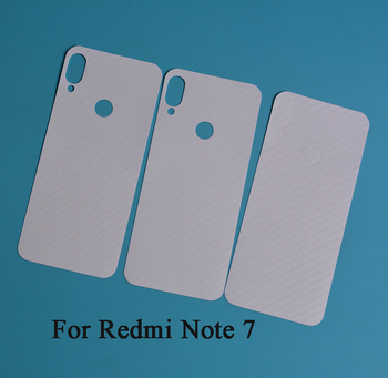 Vinyl Carbon fiber Back protective skin sticker film for Xiaomi Redmi Note 7