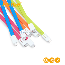 2016 New Products 20cm Portable Data Transfer USB OTG Charging Cable Keychain USB data cable for Samsung iPhone