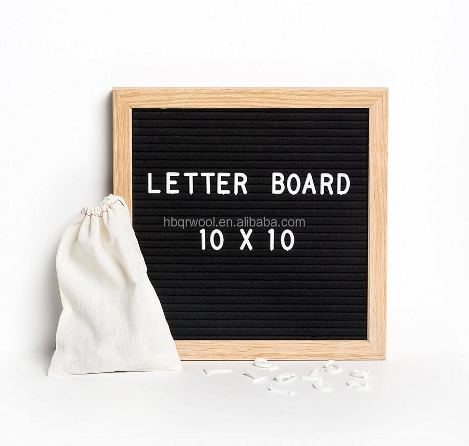 "10"" x 10"" talks letter Board with frame home furnishing articles letter display board"