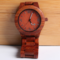 China manufacturer vogue wood sandalwood man wrist watch