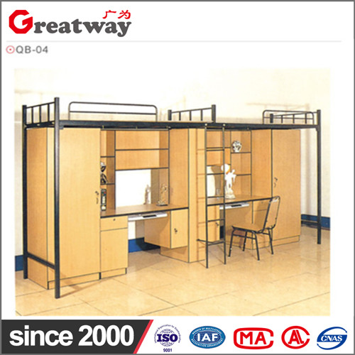 Factory supply high qualit metal simple rectangle space saving furniture loft specification of bunk bed