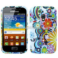 2013 Retro flower and rainbow Pattern TPU Protection Case for Samsung Galaxy Ace Plus S7500