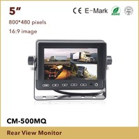 5 Inch Rearview Car Monitor with digital panel, vehicle reverse lcd monitor with backup camera
