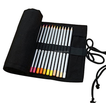 Canvas 72 Holes Pencil Wrap, Travel Drawing Coloring Pencil Holder Roll Organizer