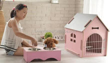 Outdoor and indoor wooden dog house cat litter dog cage pet litter dog kennel