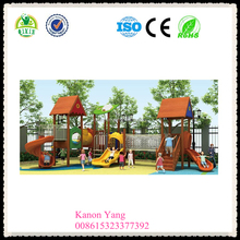 clients first, reputation first wood slide swing wooden garden toys for kids wooden outdoor toys QX-18067B