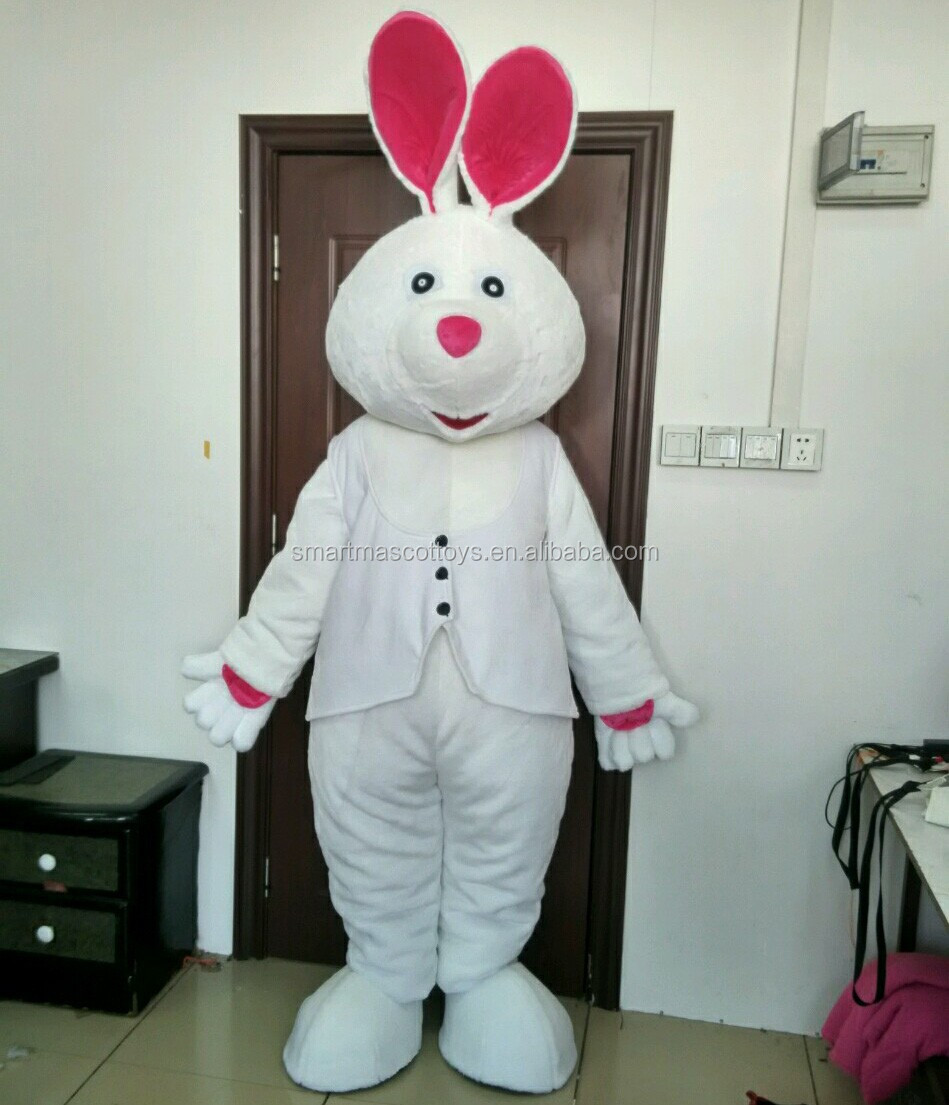 easter white bunny rabbits mascot costumes adult