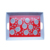 Flower decal cheap square plastic melamine serving trays with handles