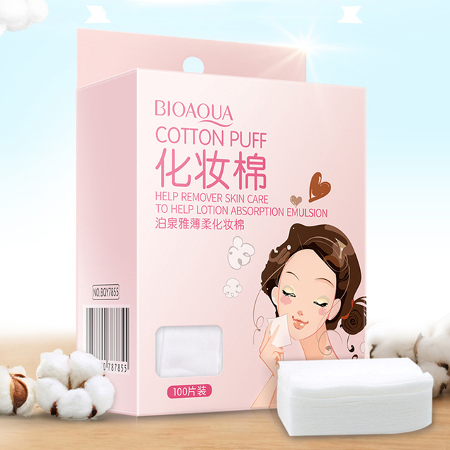 Personal Care Organic Supreme Quality Cotton Tissure Paper Makeup Remove Wipes/Tisseu For Face Cleaning 100Pieces Wholesale