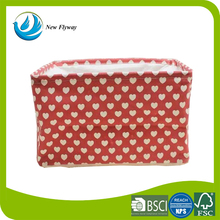 Folding basket as seen on tv innovative product red color canvas bags