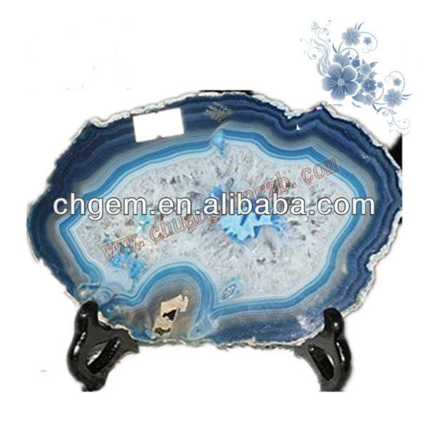 Semi-precious Stone Agate Slice Home Stone Decoration