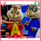 Carnival plush alvin and the chipmunks mascot costumes for adults