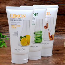 Mengkou best snail aloe vera lemon vitamin C facial cleanser for wholesale